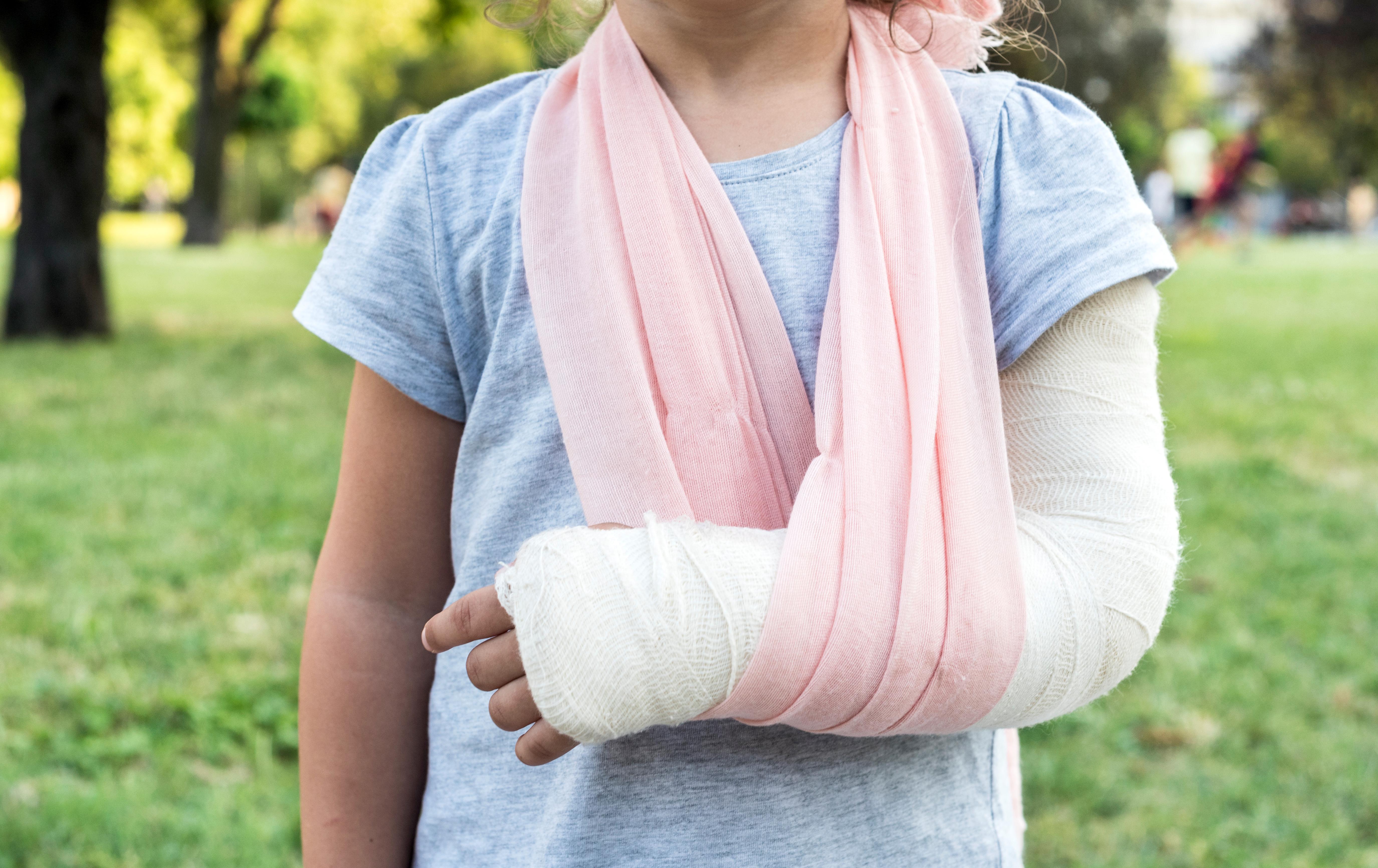 Bones broken; fractured