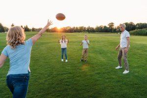 Family Football on Thanksgiving